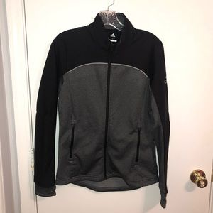 Adidas Black Grey Golf Thermal Jacket Zip Up Small